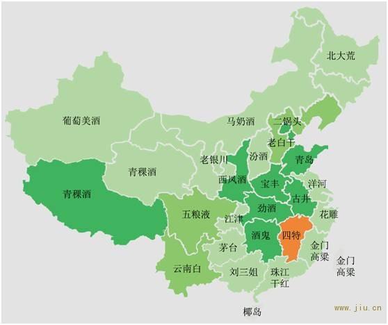 (酒鬼眼中的中国地图)
