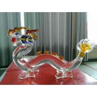 河北玻璃酒瓶生产厂家定制高硼硅玻璃龙形酒瓶