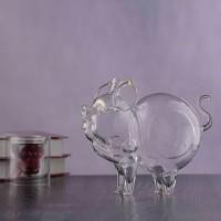 生肖猪猪高硼硅玻璃工艺空酒瓶