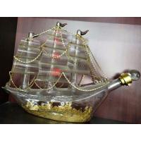 帆船玻璃酒瓶厂家定制