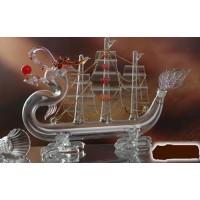 帆船玻璃酒瓶 一帆风顺工艺酒瓶 河北工艺酒瓶厂家