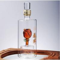 创意造型玻璃白酒瓶私人订制内置造型玻璃酒瓶厂家