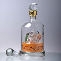 异形玻璃白酒瓶定制厂家生产内置造型酒瓶