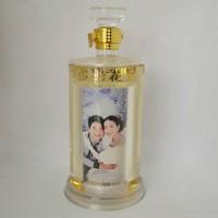 玻璃白酒瓶厂家直销内置照片酒瓶婚宴用白酒瓶订制