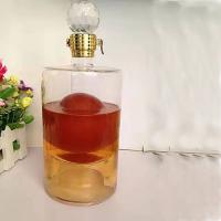 透明玻璃工艺酒瓶创意双层内置大龙造型酒瓶