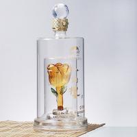 河北河间源头玻璃白酒瓶厂家定做各种工艺酒瓶