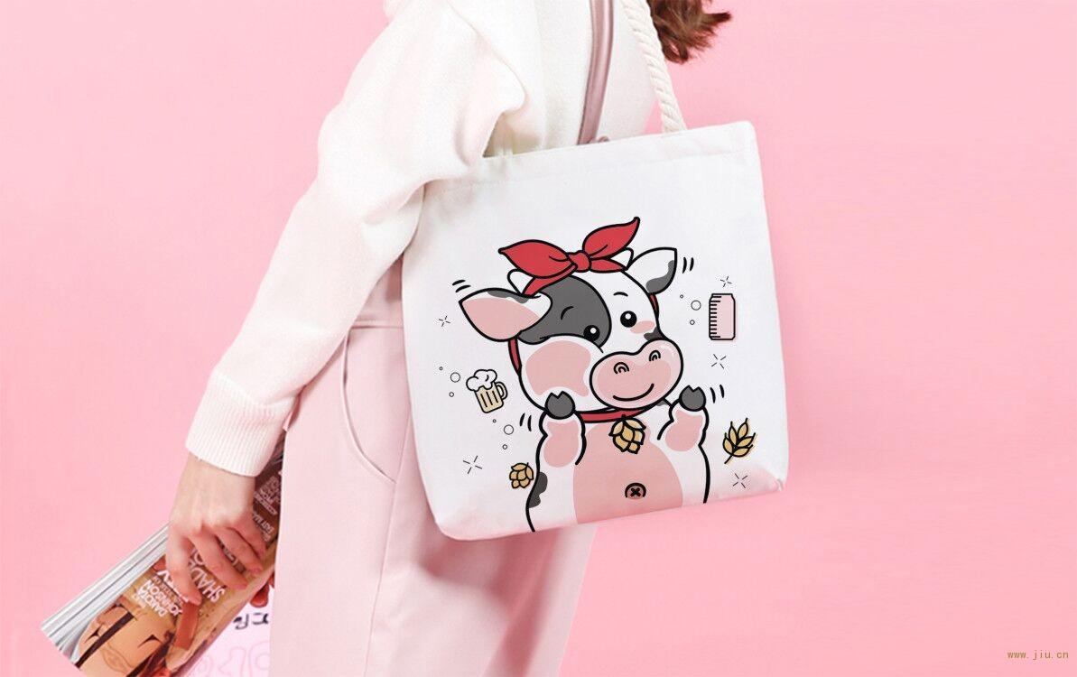 奶啤手提袋设计 深圳啤酒包装公司古一设计 奶啤包装延展手提袋设计